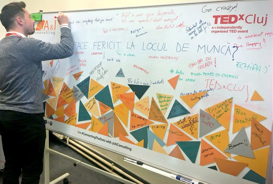 Whiteboard A&I Consulting TEDx Cluj